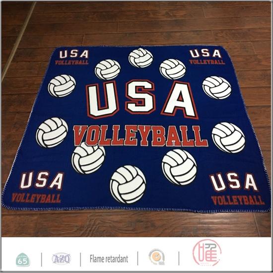 usa volleyball design fleece blanket